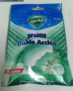 Procter & Gamble CARAMELOS VICKS PRAIMS DOBLE ACCION BOLSA EUCALIPTO 32GR SIN AZUCAR