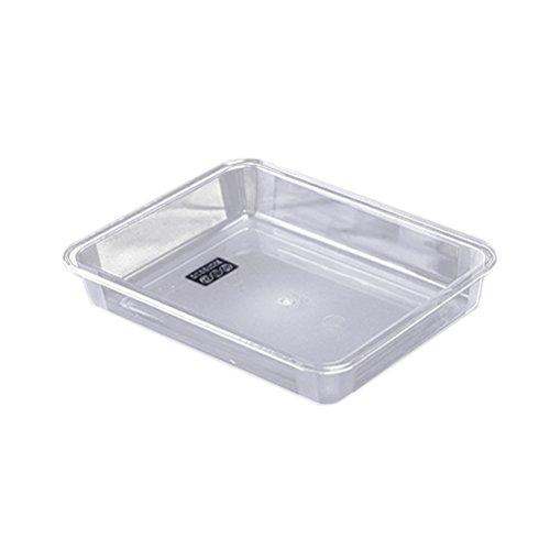 bestonzon klar Kunststoff Tabletts Foodservice Tablett Servieren Party Platten