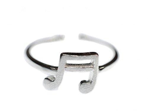 Sechzehntel Note Ring Miniblings Fingerring Musik Noten Klavier Chor silber