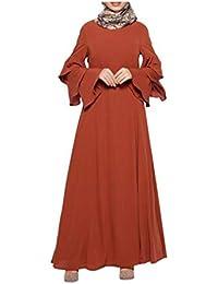 MERICAL Moda Casual Mujeres Musulmanas Sueltas Color sólido Traje Elegante y Noble Ropa Abaya Islámico Árabe