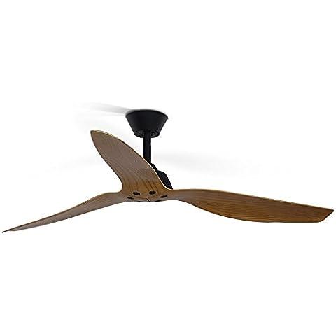 LINA-Retrò soggiorno fan creative ristorante minimalista ventilatore industriale americano di vento-legno, telecomando Ventilatore a soffitto
