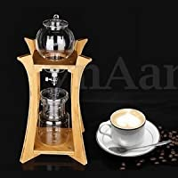 Tradico® TradicoBrand New Home Cold Brew Water Ice Drip Dutch Coffee Maker Portable Bamboo Glass Dripper