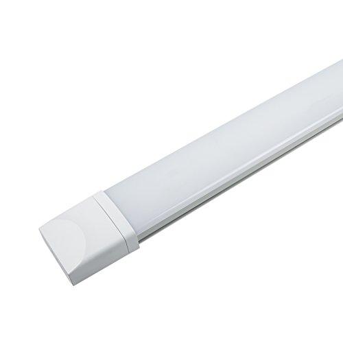 J&C LED Feuchtraumleuchte Ultraslim 120CM mit 36W in Tageslicht 4000K mit PC Abdeckung 2800 Lumen Dank Schutzart IP65 sowohl für den Innen- als auch Aussenbereich