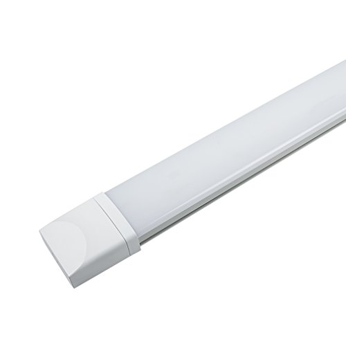 feuchtraumwannenleuchte J&C LED Feuchtraumleuchte Ultraslim 120CM mit 36W in Tageslicht 4000K mit PC Abdeckung 2800 Lumen Dank Schutzart IP65 sowohl für den Innen- als auch Aussenbereich