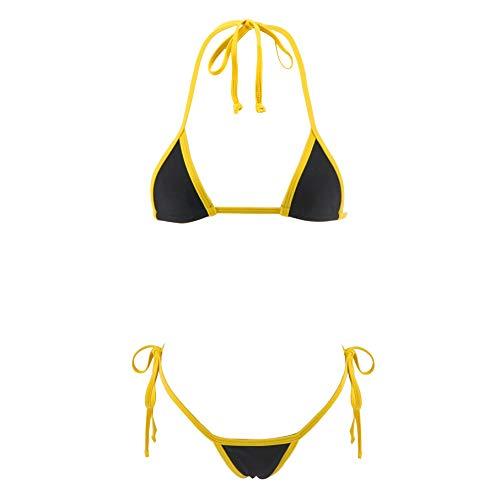 e1ba690ff1f SHERRYLO Various Styles Micro Bikini Set Multi Color Swimming Costumes  Swimsuit Swim Lingeries (Black)