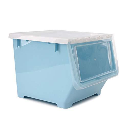 J+N NJ Aufbewahrungsbox- Kinder Muschelschale große Kunststoff-Aufbewahrungsbox, Haushaltsspielzeug Bücher Snacks Fertigstellungsbox (Farbe : Blau, größe : 34.5x37.5x28cm)