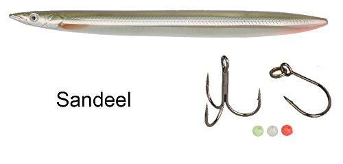 Savage Gear Line Thru Sandeel - Meerforellen Köder für Meerforelle, Meerforellenköder, Meerforellenblinker, Meerforellenwobbler, Farbe:Sandeel;Länge / Gewicht:12.5cm - 19g