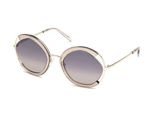 Emilio pucci ep0073 45b 57, occhiali da sole unisex adulto, marrone chiaro luc\fumo grad
