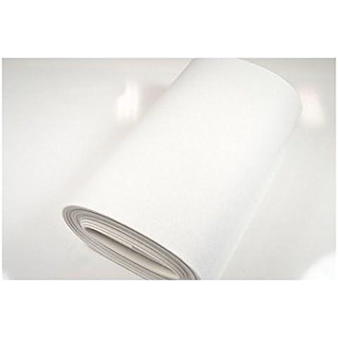 Fabrics-City Feltro per bricolage, feltro sostanze ~ 5mm ~ feltro Tessuto al metro, 2759 bianco - Feltro Bianco