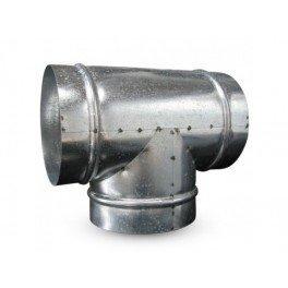 Raccord T en métal 200mm 90° ventilation conduit