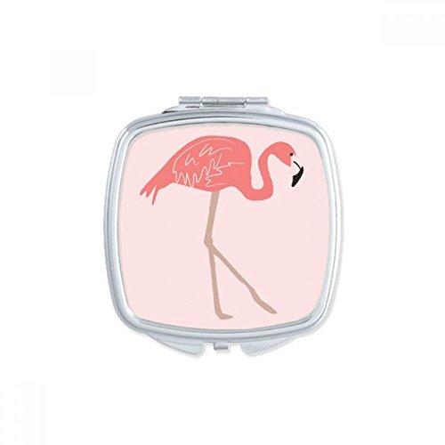 DIYthinker Gehe Flamingo-Muster-Rosa-Platz Compact Make-up Spiegel Beweglicher Nette Handtaschenspiegel Geschenk -
