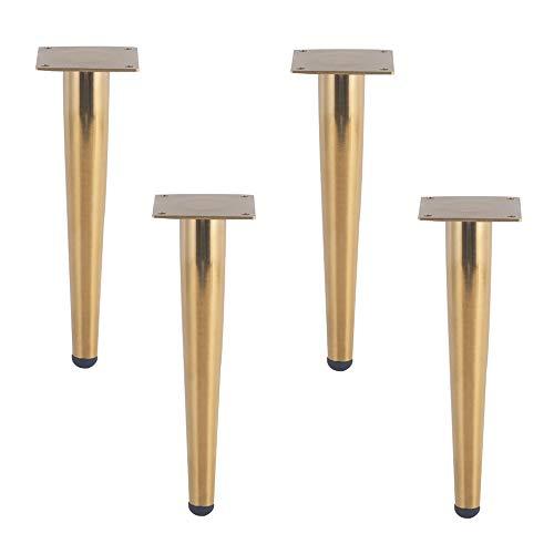 CRKY Moderne möbel Sofa Beine, Metall Chrom tv Schrank Beine, DIY Kegel Finish, austauschbare kleiderschrank, Sideboard Beine (4 stücke) -