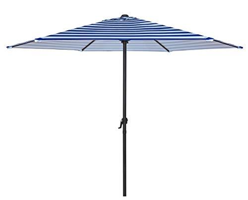 HERMO 96s Roun 9 Ft Outdoor Patio Market Table Umbrella, Blue - 9' Market Umbrella Base