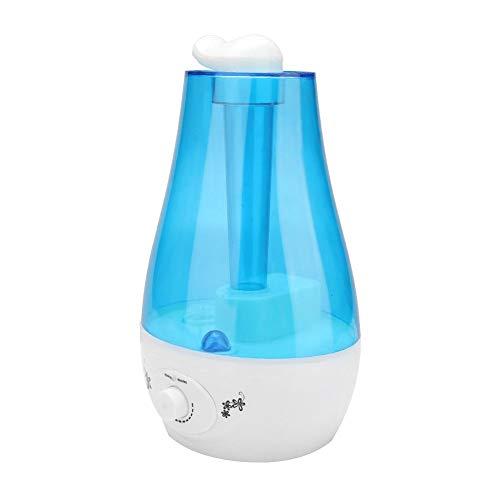 Nebel Luftbefeuchter, 3L Hochleistungs LED Ultraschall Luftbefeuchter Ätherische Öle Diffusor, geräuscharm für Schlafzimmer, Babyzimmer, Haus, Büro, Fitnessraum(EU-Stecker)