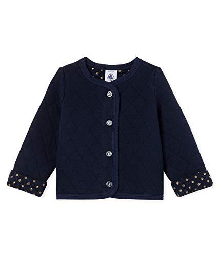 Petit Bateau Baby-Mädchen Cardigan_4996203 Strickjacke, Blau (Smoking 03), 98 (Herstellergröße: 36M/95cm) (Gesteppte Strickjacke)