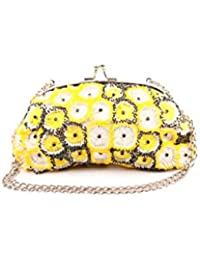 Nitya Biswas Women's Clutch (Yellow)