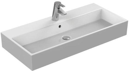 Ideal Standard Becken Strada K0786MA, weiß Ideal Plus, B: 910, T: 420, 1Loch gebohrt Loch-Wäschekorb, Ausgabe von vordefiniertes links und rechts