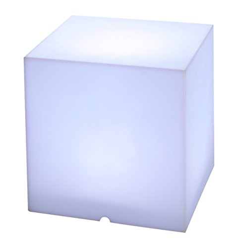 greemotion Leuchtkubus LED mit Fernbedienung, Leuchtwürfel mit Farbwechsel, Gartenwürfel aus Kunststoff leuchtend 40 cm, Lichtwürfel IP...