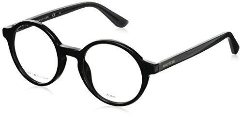 Tommy Hilfiger Unisex-Erwachsene TH 1390 Brillengestelle, Schwarz, 48