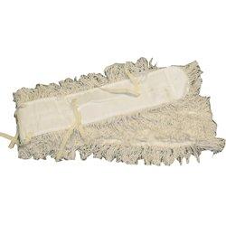 Wischmop aus Baumwolle Meiko 160 cm Baumwollmop, Feuchtwischbezug mit Band zum Fixieren