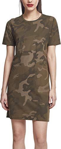 Urban Classics Damen Kleid Ladies Camo Tee Dress, Mehrfarbig (Olive Camo 00775), 38 (M) Classic-kleid Kleid