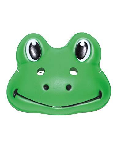 Luxuspiraten - Kostüm Accessoires Zubehör Tier Augenmaske Maske Frosch Frog, perfekt für Karneval, Fasching und Fastnacht, Grün