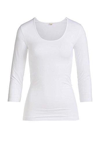 hessnatur Shirt aus Bio-Baumwolle und Modal Weiß