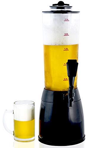 Gadgy ® Dispensador de Cerveza | 3,6 L. Bebidas Drink Dispenser | Compartimiento de Hielo Separado | 53 cm. Alto