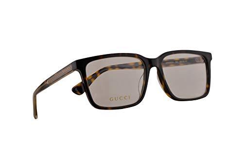 Gucci GG0385OA Brillen 55-16-145 Braun Havana Mit Demonstrationsgläsern 002 GG 0385OA