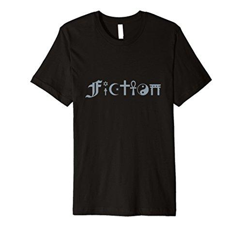 FICTION nebeneinander Stil Religiöse Symbol Atheist Shirt