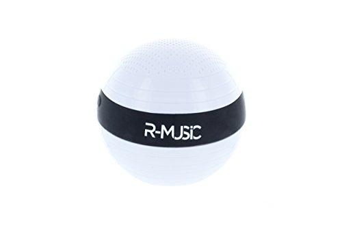 RM482167 Enceinte flottante Bluetooth sans fil - Résistance à l'eau IPX6- Son riche et claire- Batterie rechargeable intégrée - Autonomie 4H- Micro USB DC 5V 500mA- Blanc-Noir
