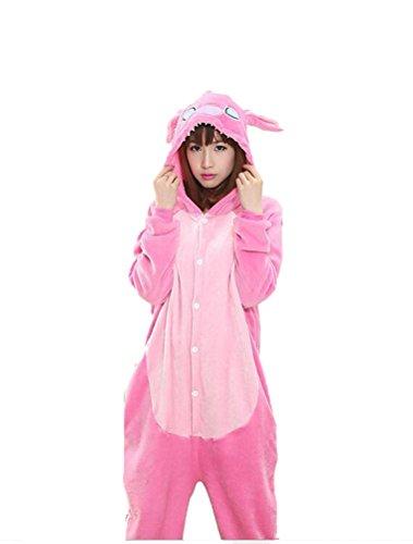 lay Tier Onesie Body Nachtwäsche Kleid overall Animal Sleepwear Erwachsene 1-11 XL (Elf Schlafanzüge Für Erwachsene)