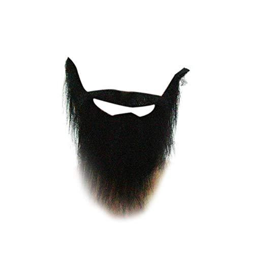 Kostüm Bart Und Schnurrbart - dfhdrtj Personality Kostüm Requisiten Fake Schnurrbart Bart schwarz bart Männer lustig für Camping, Picknick und andere Outdoor-Aktivitäten - Farben