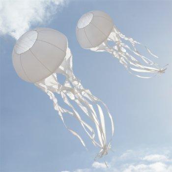 CIM Windsack - Qualle - Windbereich: 1-6Bft, geeignet ab 12 Jahren - Ø55cm, Länge: 150cm - inkl. Kugellagerwirbel mit Aluminiumkarabiner