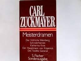 Meisterdramen par C Zuckmayer