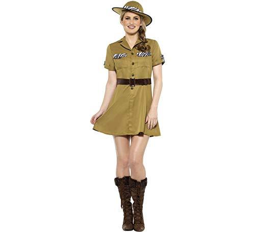 Damen Safari Kostüm - Smiffys Wildtier Safari Damen Kostüm Karneval Jägerin Afrika