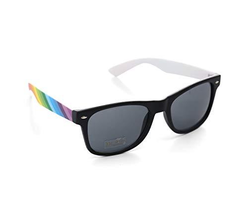 Bunt Stylische Gay Pride Sonnenbrille Regenbogen Farben Rainbow UV400 (5er Pack) WSPSG4