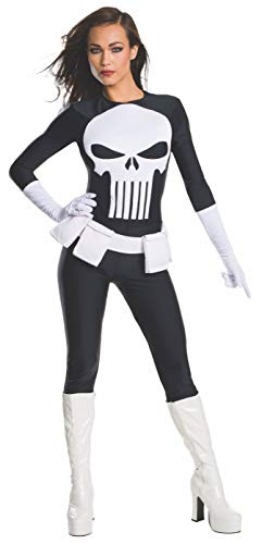 Weiblich Schurke Kostüm - Rubie 's Offizielles Damen Marvel Secret Wishes Punisher Kostüm - Medium - UK 12-14