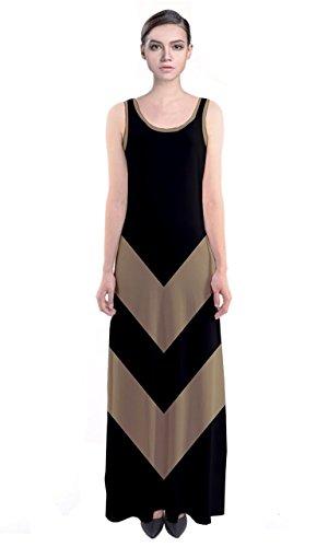 CowCow - Robe - Femme Multicolore Noir et blanc vert olive