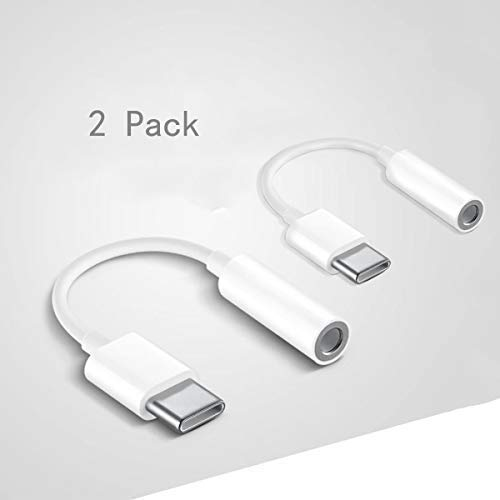 Jack USB C, Adaptadores de Audio de USB Tipo C a Auricular de 3,5 mm,Cable Adaptador Convertidor de USB C Audio para Dispositivos Huawei, Google y Otros Dispositivos con USB C