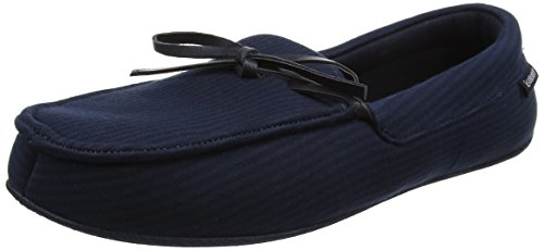 Isotoner Mens Stripe Moccasin Slipper, Chaussons Bas Homme
