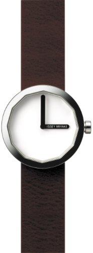 Issey Miyake - IM-SILAP015 - Montre Mixte - Quartz Analogique - Bracelet Cuir Marron