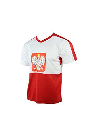 MC-Trend Polen Polska Poland Pologne Polonia Trikot mit Mesh-Einsätzen, UNISEX, Gr. M