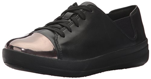 F Sporty Mirror Toe Sneaker - Black Leather Nero