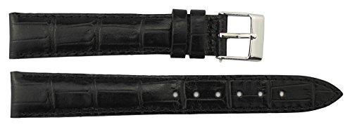 Moog Paris Schwarz Kalbsleder Uhrenarmband, Dornschließe, 16mm Ersatzband _ B16007