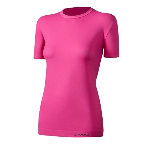 Alleviare Spaio T-shirt da donna - Facile da riparare annusandosi hem aderente al corpo Rosa - rosa