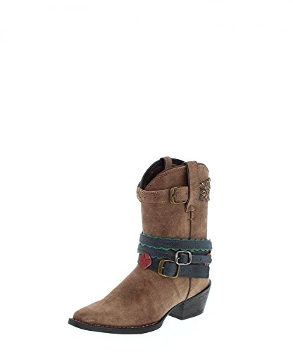 Mädchen Cowboy Durango Stiefel (Durango Boots Accessorize DBT0169 Braun Kinder Westernstiefel)