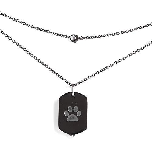 Pssopp Haustier Urnen Anhänger Memorial Urn Halskette Haustiere Asche Footprint Muster Anhänger Halskette für Hund Katze Haustiere