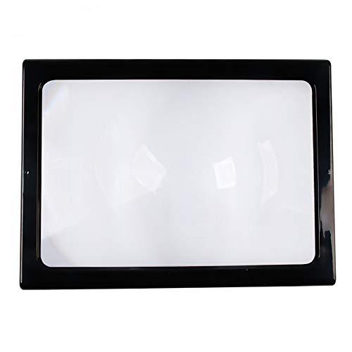 Leselupe mit LED-Licht Hand mit Ständer und Schlüsselband - Große A4-Papierbeleuchtungs-Sichthilfe