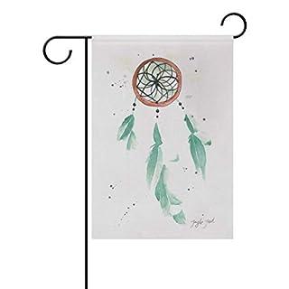 Dozili-Flagge, rote Traumfänger, Dekoration für den Garten, Wetterfest und doppelseitig, Polyester, bunt, 12.5